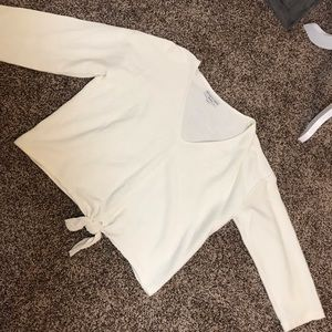 ♥️Madewell Texture & Thread Tie-Front top